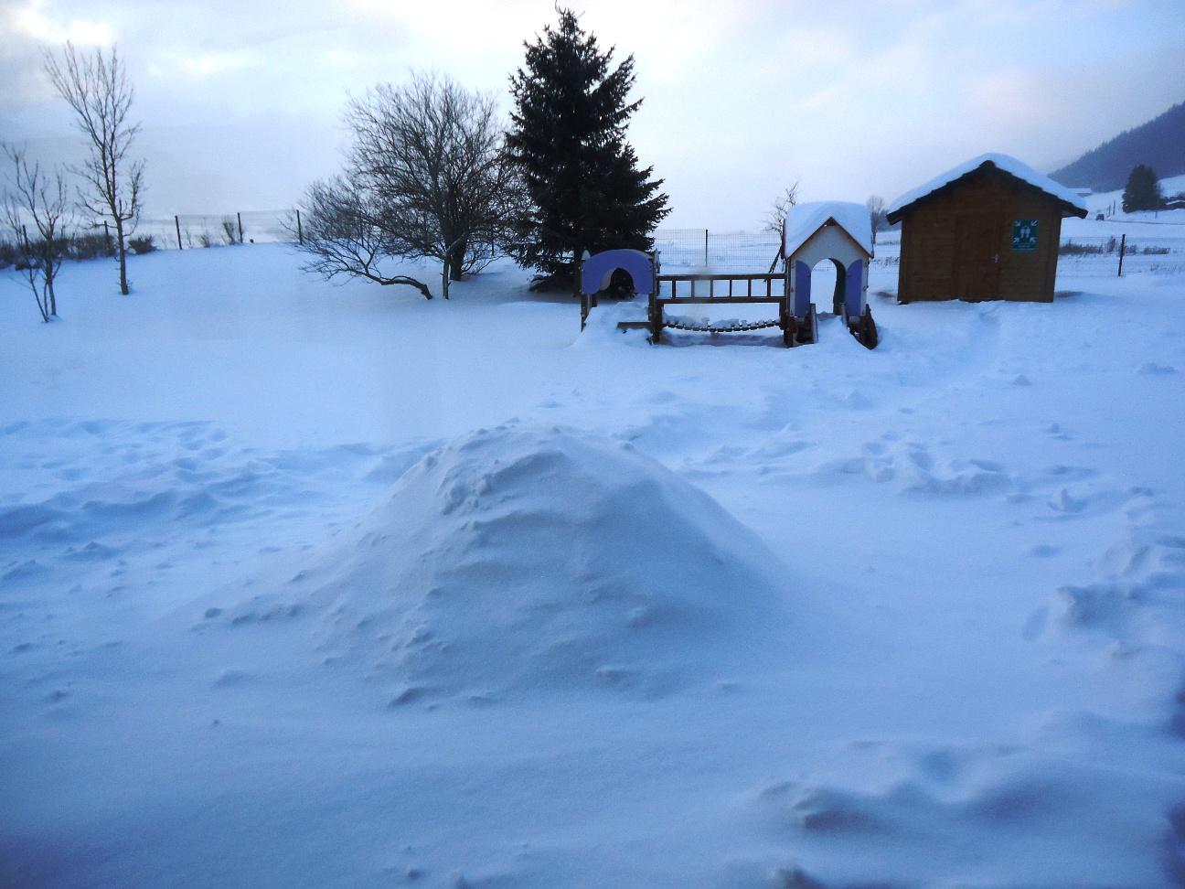 Enfin la neige!